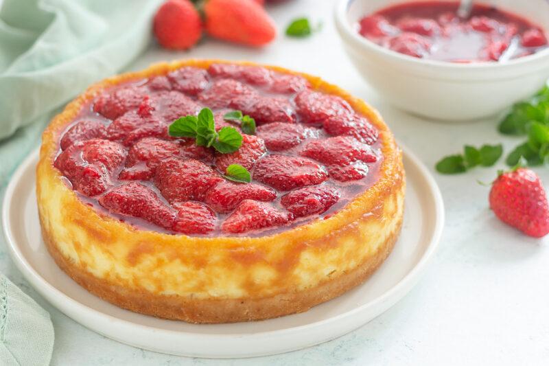 Cheesecake al mascarpone e fragole