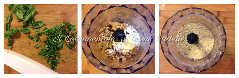 Parigini di patate noci e basilico gratinati inn forno pass 1