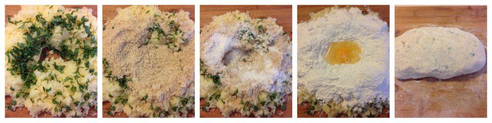 parigini di patate noci e basilico gratinati in forno pass 3
