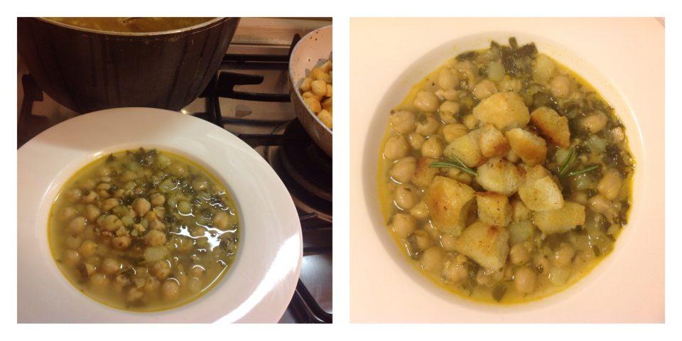zuppa di ceci bietole e pancetta 5