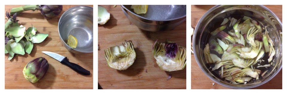 risotto con stoccafisso e carciofi 3
