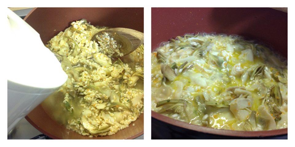 risotto con stoccafisso e carciofi 5