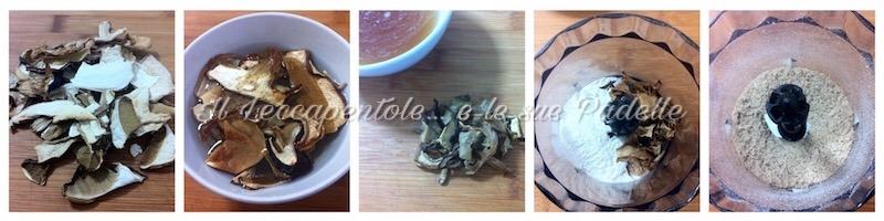tagliatelle ai funghi secchi porcini con ragù di carne e piselli img 2495