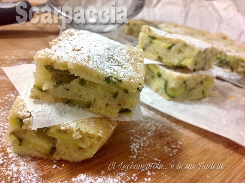 SCARPACCIA TORTA DOLCE DI ZUCCHINI FOTO BLOG 1