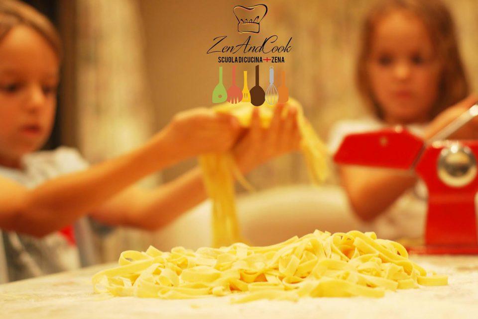 scuola di cucina Zenandcook Genova new junior chef la pasta fresca