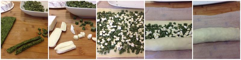 girelle con frittata di spinaci