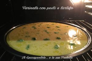FARINATA CON PESTO E TARTUFO