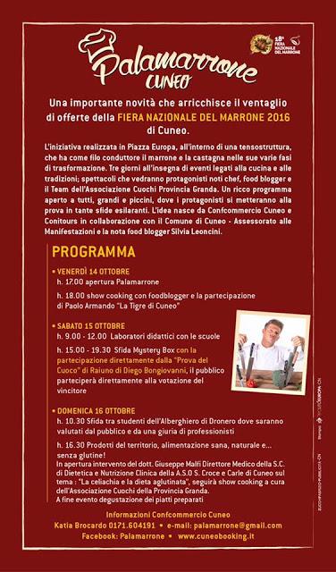 PALAMARRONE programma cuneo 2016