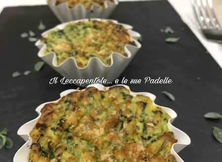 TORTINI DI PATATE CON SPINACI