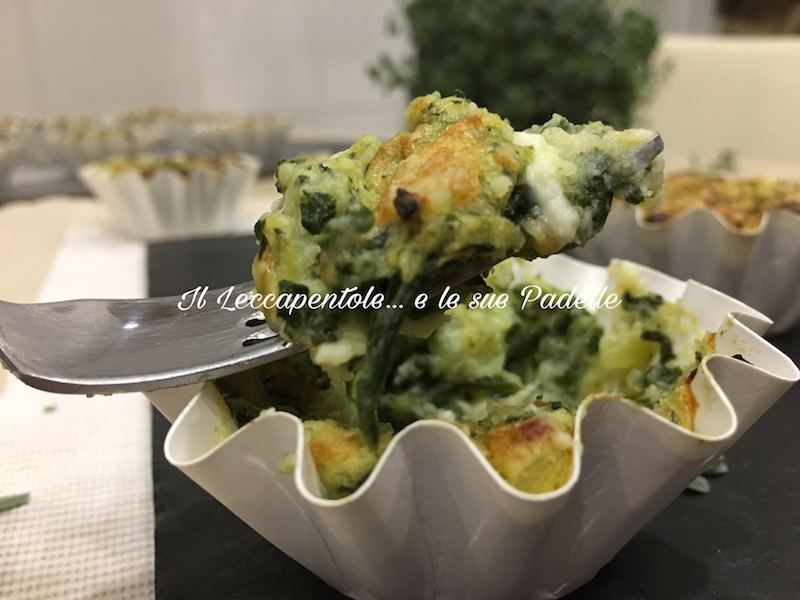 tortino di patate e spinaci foto blog twitter