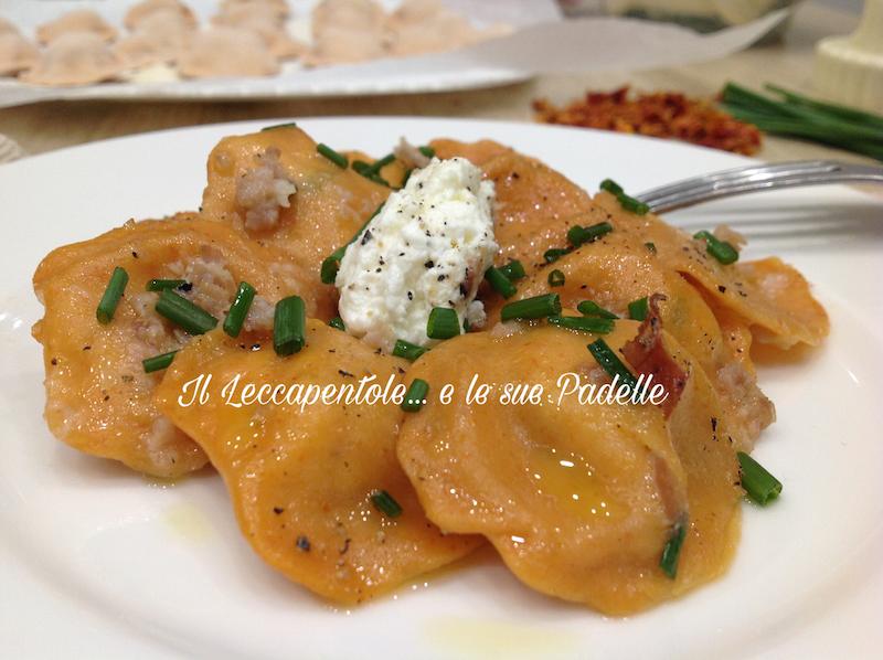 ravioli a pomodoro con formaggi e speck blog