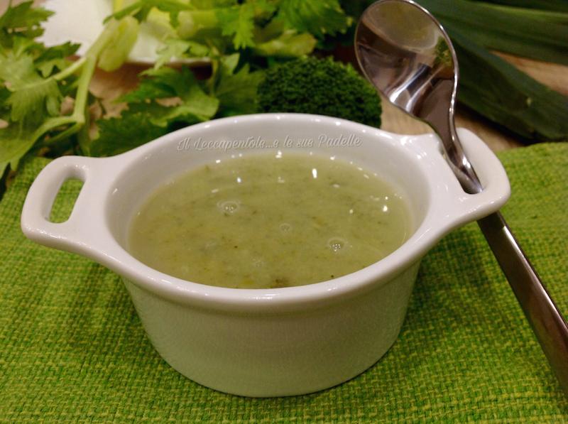 passato di broccoli sedano e porro con latte di soia foto blog 2