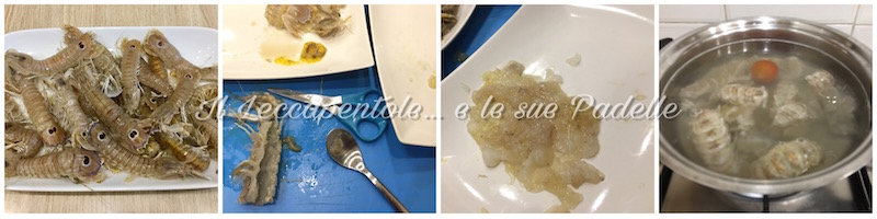 risotto con canocchie e pancetta pass 1