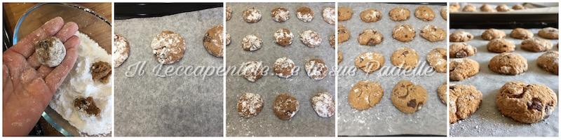 cookies senza burro con cioccolato fondente pass 2