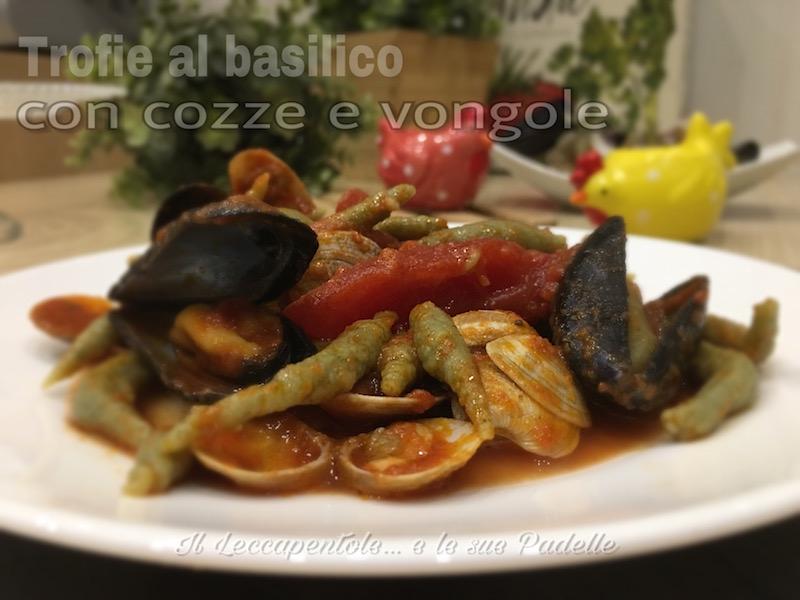 ITROFIE AL BASILICO CON COZZE E VONGOLE FOTO BLOG 1