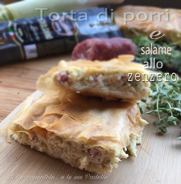 torta di porri e salame allo zenzero foto blog 2