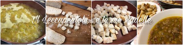 zuppa di zucca borlotti e salsiccia passaggio 2