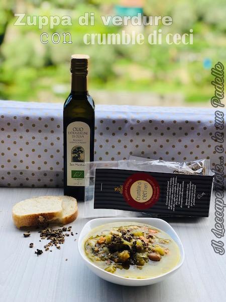 zuppa di verdure con crumble di ceci foto blog 2