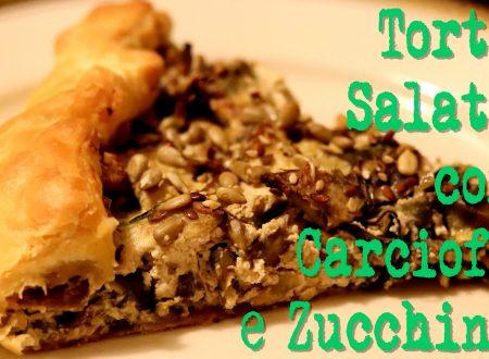Torta salata di carciofi e zucchine