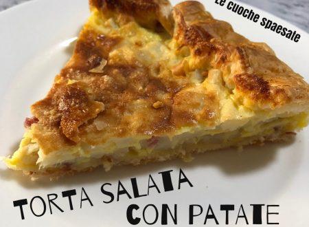Torta salata con patate e pancetta