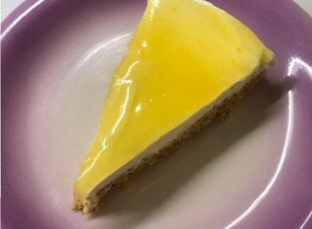 Torta fredda allo yogurt di agrumi simil-cheesecake