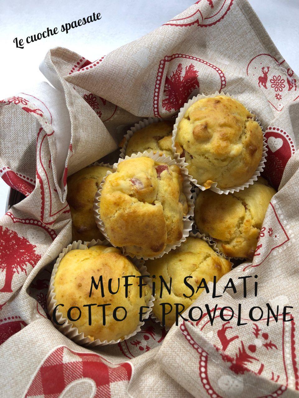muffin salati cotto formaggio
