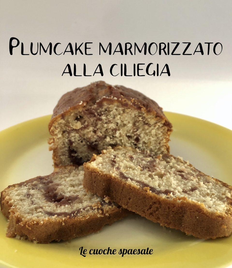 plumcake marmorizzato alla ciliegia