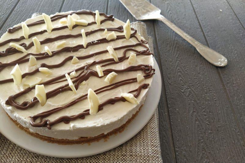 Cheesecake con cioccolato bianco