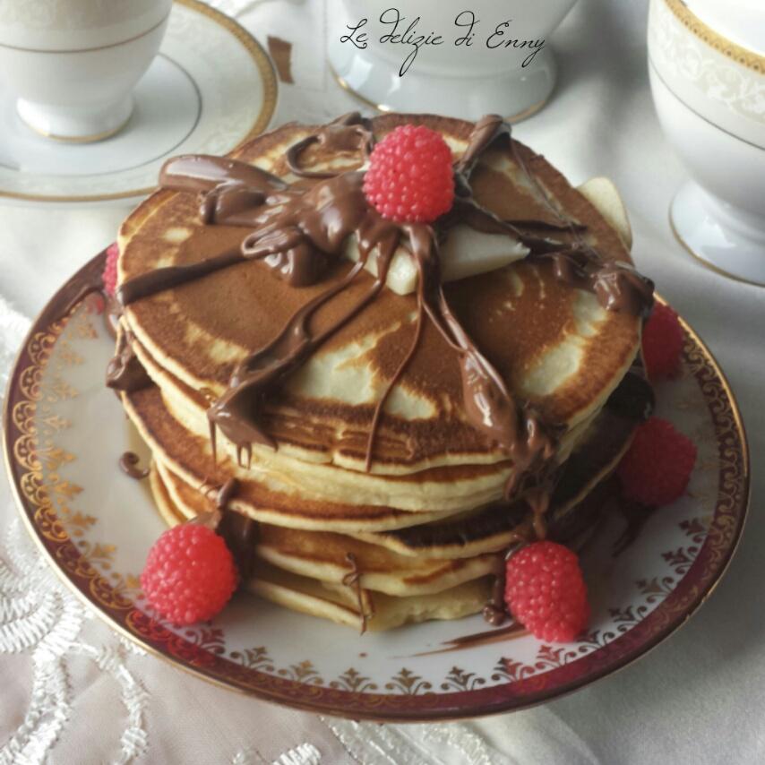 Pancakes con crema gianduia