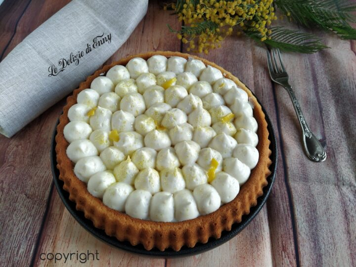 crostata ,morbida con crema al limone