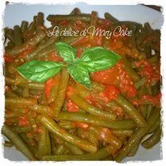 Fagiolini al sugo di pomodoro