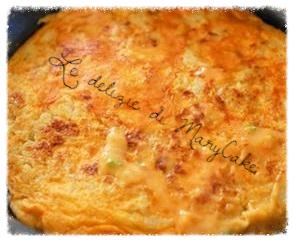 frittata al forno con patate e wurstel (CELIACHIA)