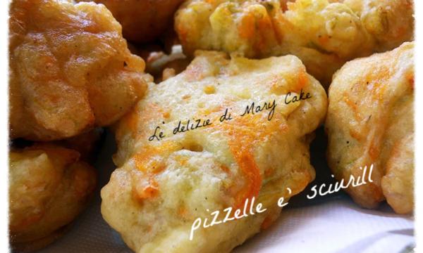 frittelle fiori di zucchina: pizzelle 'e sciurilli