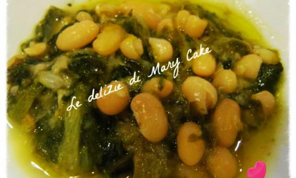 Zuppa di scarola riccia e fagioli