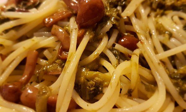Pasta funghi chiodini e broccoli gluten free
