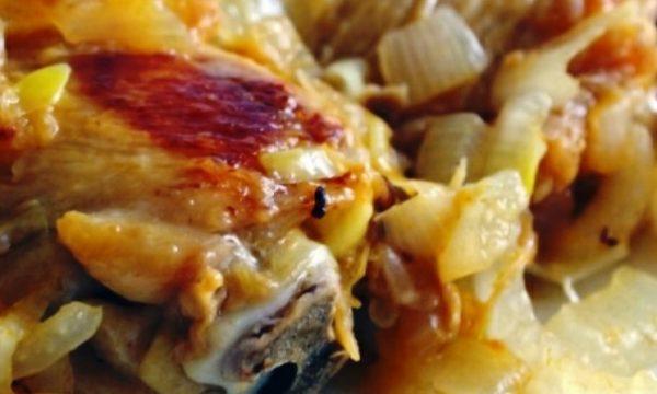 Pollo con le cipolle