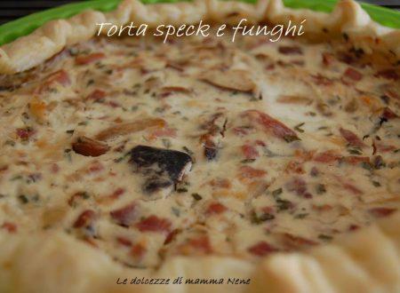 TORTA SALATA SPECK FUNGHI
