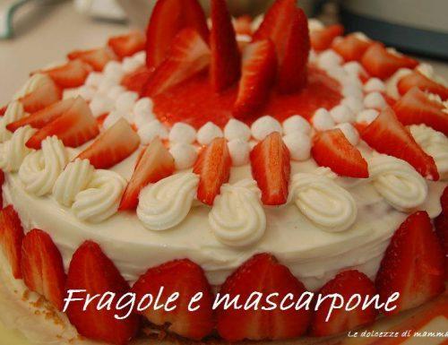 TORTA FRAGOLE  MASCARPONE -BIMBY-