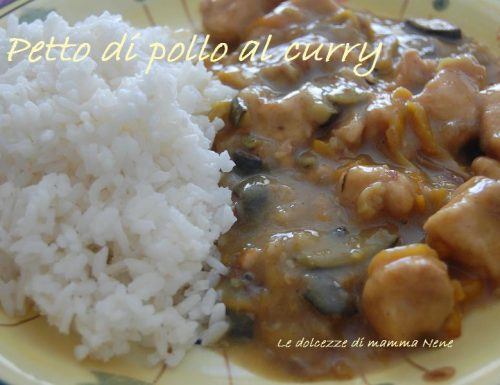 POLLO AL CURRY E VERDURE
