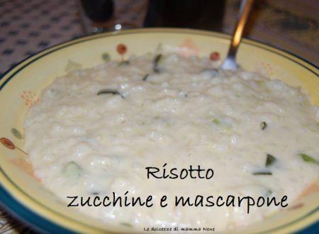 RISOTTO ZUCCHINE E MASCARPONE