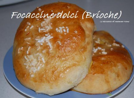 FOCACCINE DOLCI (Brioche)