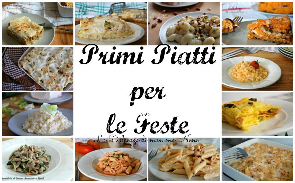 Primi piatti per le feste raccolta di ricette con bimby for Primi piatti ricette bimby