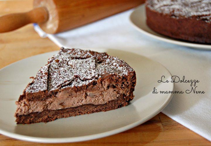 Crostata al Cacao con Crema Mascarpone e Ricotta