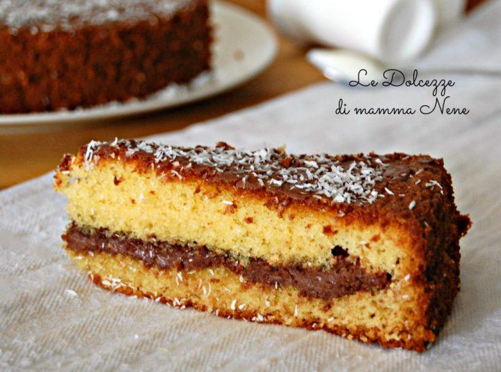 Torta Sette Vasetti Cocco e Nutella