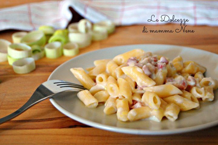 Pasta con Porri e Pancetta