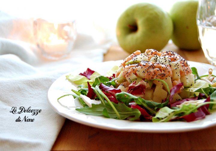 Tartare di salmone con mela verde