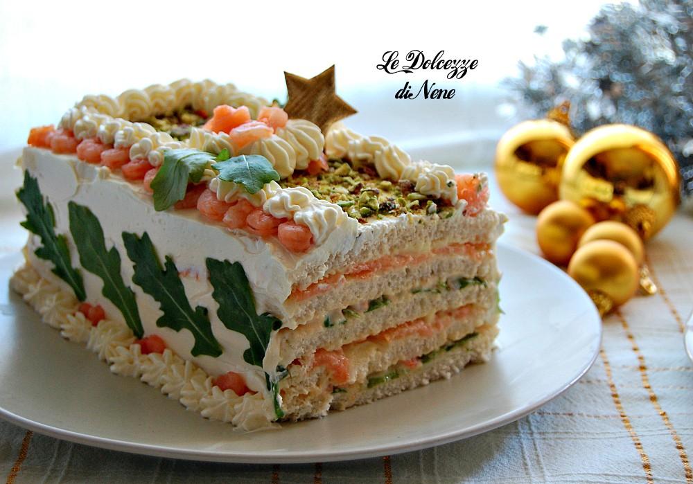 Torta tramezzino salata ricetta antipasto aperitivo per natale capodanno feste - Tavolo zed riflessi costo ...