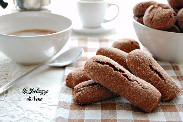 Biscotti cacao e caffe da inzuppare