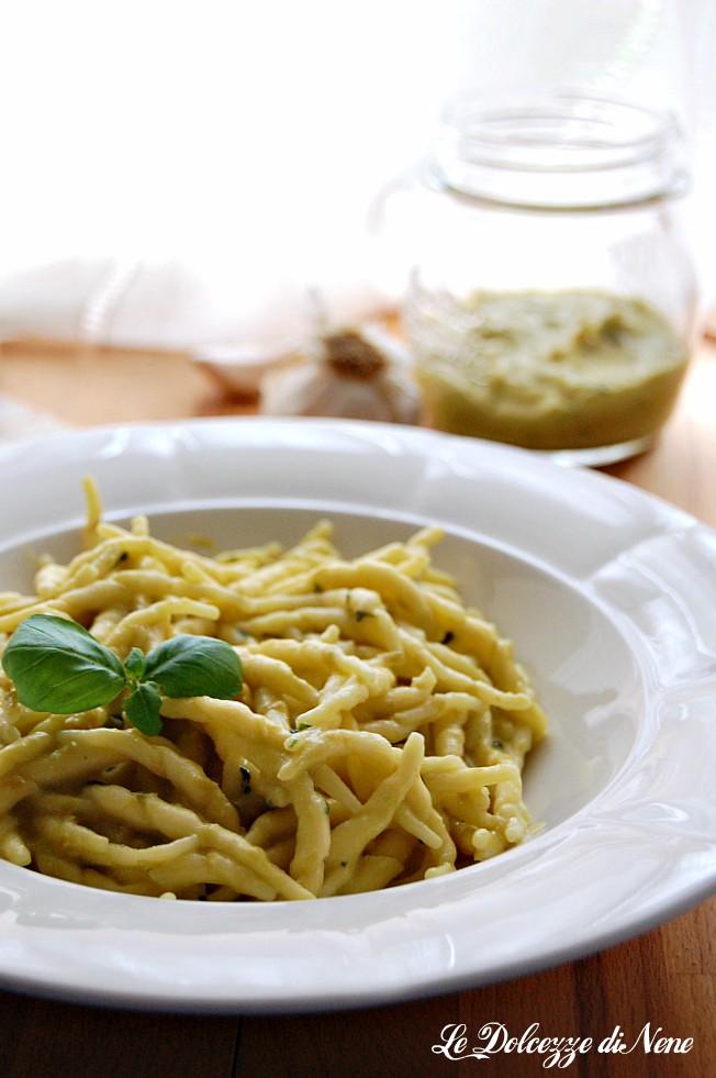 La pasta con pesto di fagioli