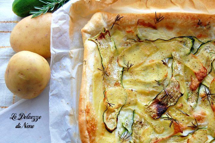torta salata con zucchine patate e taleggio